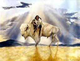 femme bisonne blanche